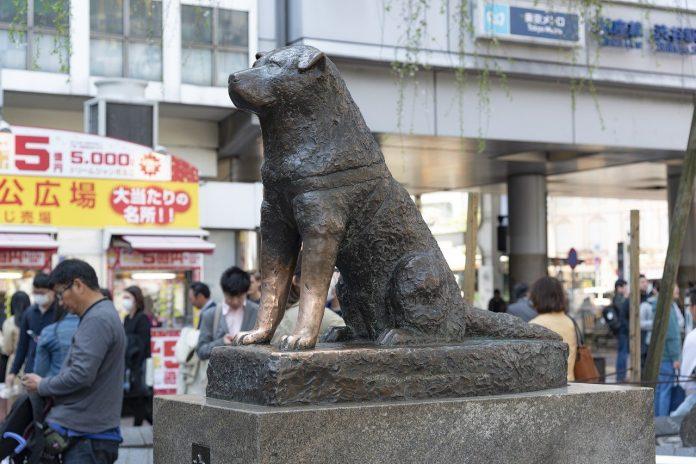 statue chien japonais